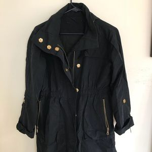 Jackets & Blazers - Boutique Navy Raincoat w/ hood + liner - size OS